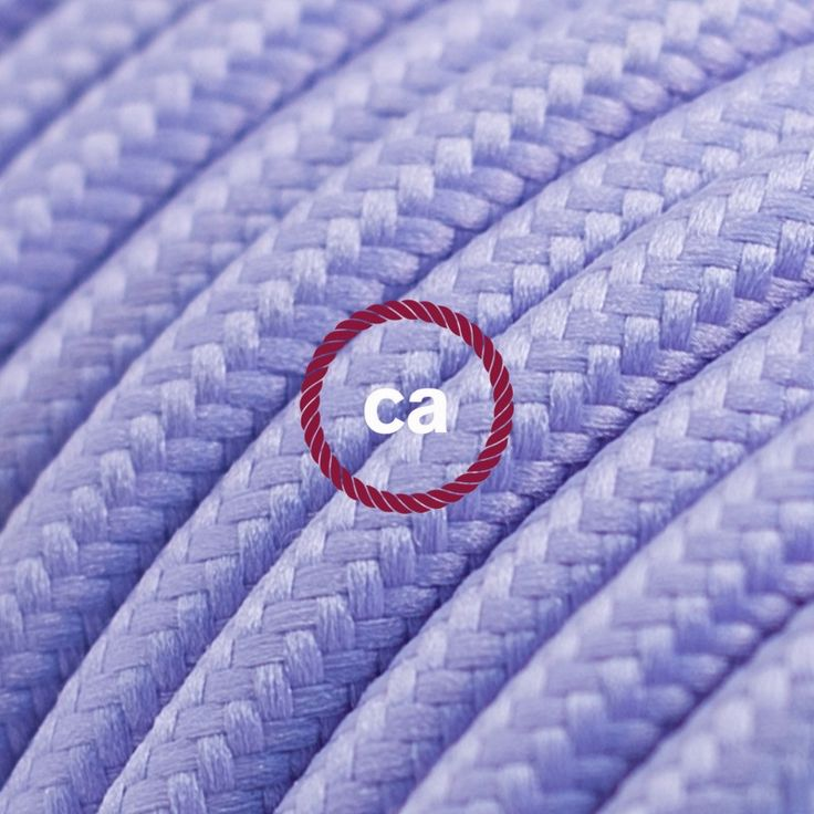 Round Electric Cable covered by Rayon solid color fabric RM07 Lilac Choose your country here: Italy: www.creative-cables.it USA: www.creative-cables.com Europe&Australia:www.creative-cables.net www.creative-cables.net #lighting #illuminazione #homedecor #house #haus #maison #hogar #casa #design #fabric #madeinitaly