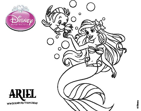 25 best princesas images on Pinterest Coloring pages, Colouring in - new little mermaid swimming coloring pages