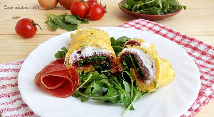 Frittata+arrotolata+con+ricotta+,bresaola+e+rucola