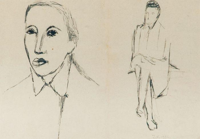 Jerzy Nowosielski - Bez tytułu, 1956 r.