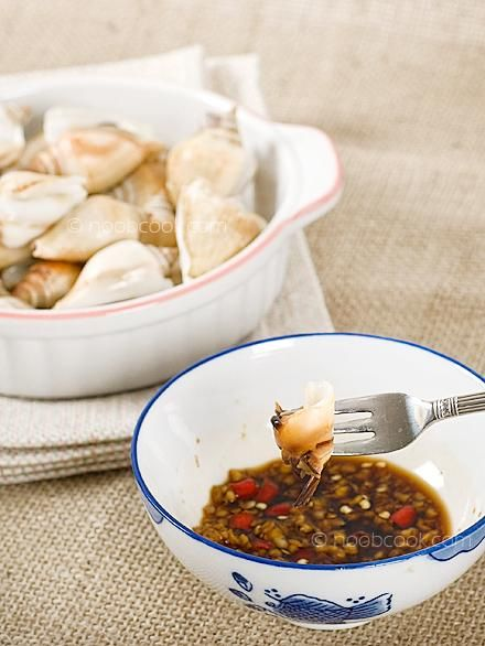 Seafood Recipes : Steamed Gong Gong (Conch) Recipe