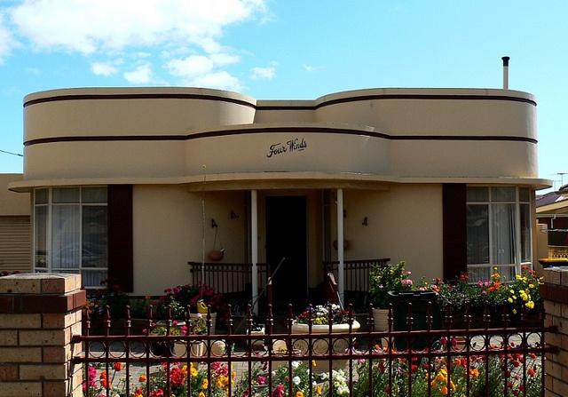 Perfect little deco house in Pennington, outside of Adelaide, Australia.