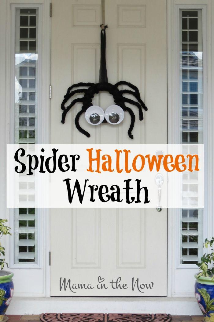 DIY Spider Halloween Wreath