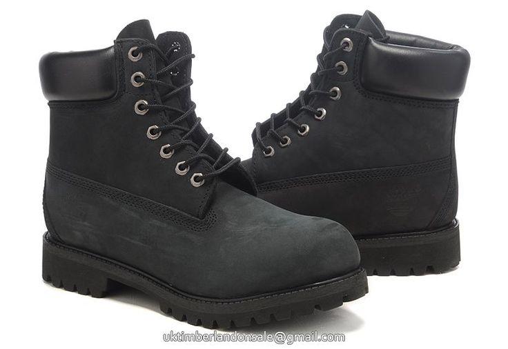 UK Timberland Women 6 Inch Premium Waterproof Boot All Black £ 72.79