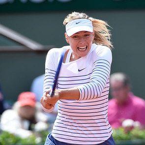 Maria Sharapova. Мария выиграла сегодня 27 мая вторую игру. Болеем за Марию!