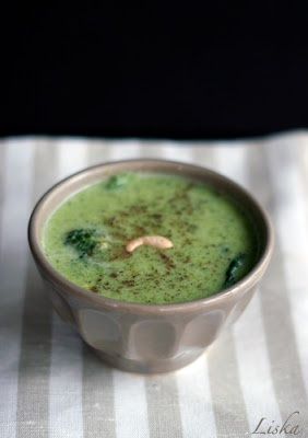 White Plate: Zupa brokułowa z orzeszkami