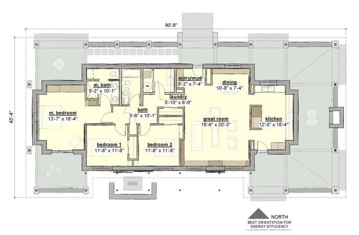 Plano de Casa Estilo Rancho Moderno de 177m2