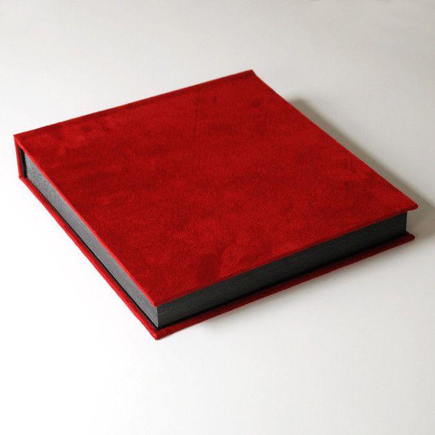 Kwadratowa zamszowa księga na zdjęcia 25x25cm, 70k - Kajet - Albumy na zdjęcia