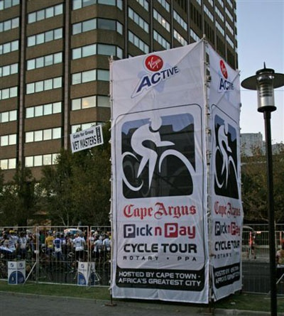 Printed shade cloth - Your Shadenet Printing Solution - Pictures - Cape Argus Cycle Tour
