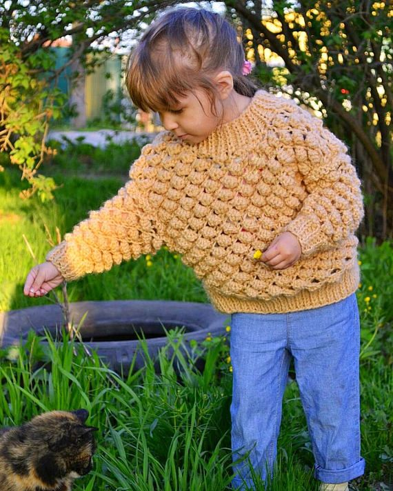 Hand knitted sweater Kid's sweater Fashion sweater for
