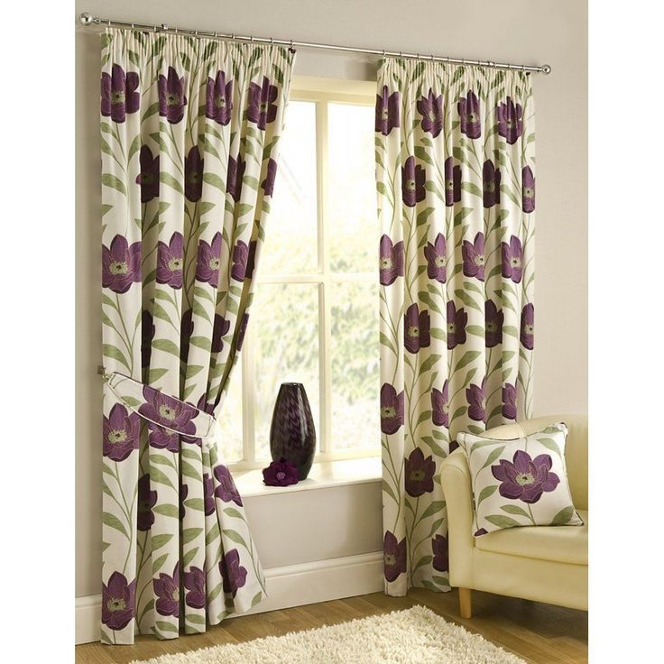 Add Fashion To Your Room With Purple Green Curtains