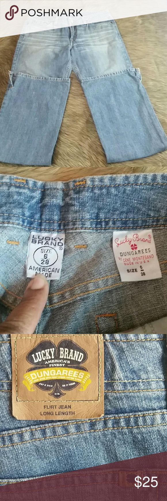 Lucky Brand Dungarees Flirt Jean 6/28 Ext Long Dungarees  Flirt Jean  Ext Long Bootcut Lucky Brand Jeans Boot Cut