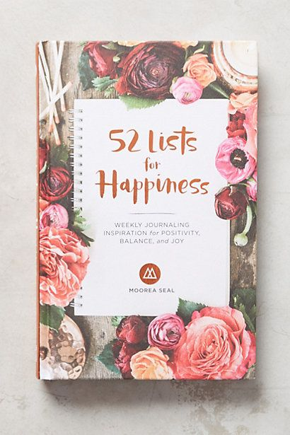 52 Lists for Happiness Journal #anthropologie                                                                                                                                                                                 More