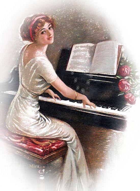 Картинки девушка играет на пианино гифы