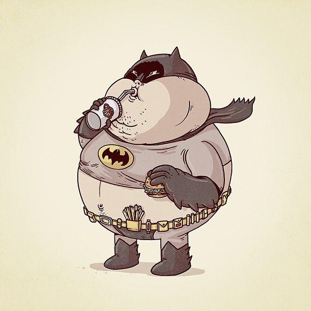 Famous Chunkies by Alex Solis fatman euuuuuuh Batman
