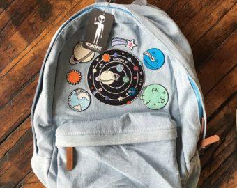 Tumblr 90s grunge denim backpack by Kokopiebrand on Etsy