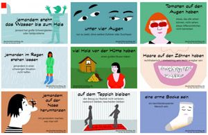 DaF - Deutsche Redewendungen und Umgangssprache mit Bildern lernen