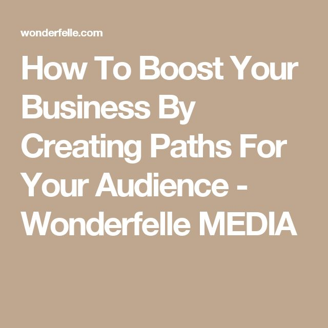 How To Boost Your Business By Creating Paths For Your Audience - Wonderfelle MEDIA