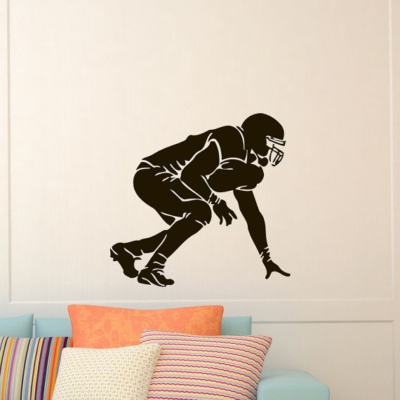Vinyl Wall Decals Football Player Sport Decal Boy by WisdomDecals