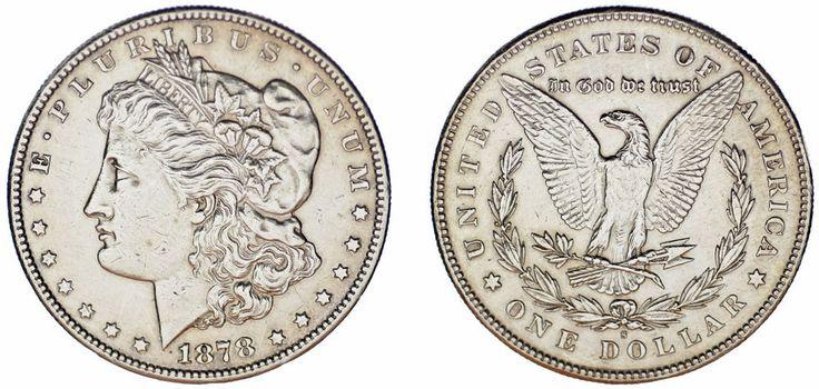 1 SILVER US DOLLAR/1 DÓLAR MORGAN PLATA. SAN FRANCISCO 1878 S. XF/EBC. ATRACTIVA
