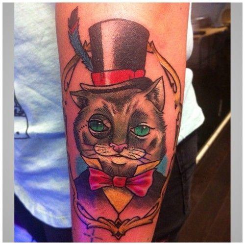 Classy Top Hat Cat Tattoo Tattoos Ideas Pinterest Cat Tattoo Tattoos Gypsy Tattoo