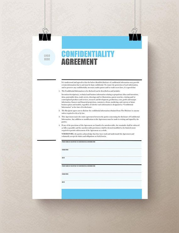 Confidentiality Agreement Non Disclosure Agreement Nda