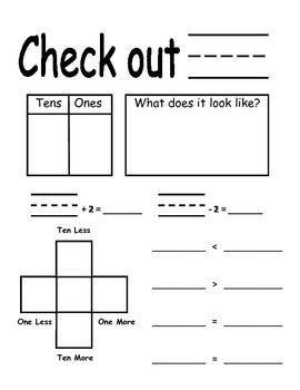 First Grade Place Value Calendar Chart - covers several Common Core standards in one.  Also great for a math center with dice.  Free on TpT!