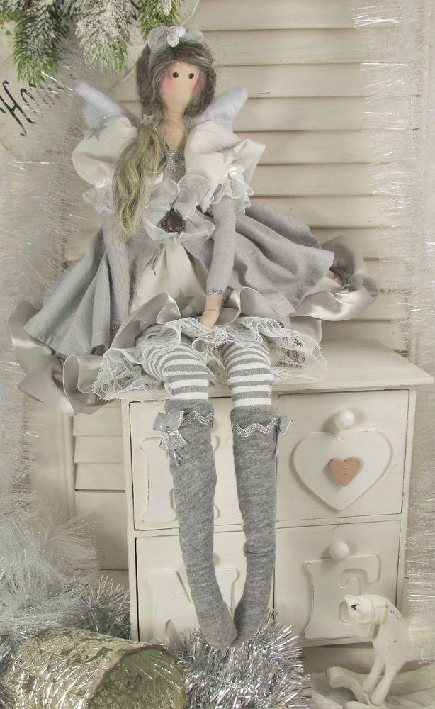 Engel Angel Puppe zu Winter Sterne stars Tilda Shabby Chic Winter Landhaus grau in Möbel & Wohnen, Dekoration, Sonstige   eBay!