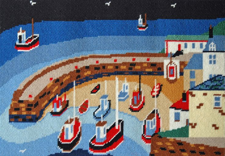 Old Harbour tapestry kit for cushion or framing