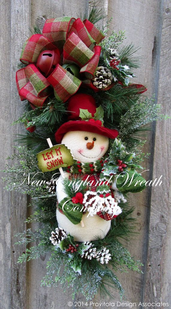 Frosty Snowman Holiday Swag by NewEnglandWreath