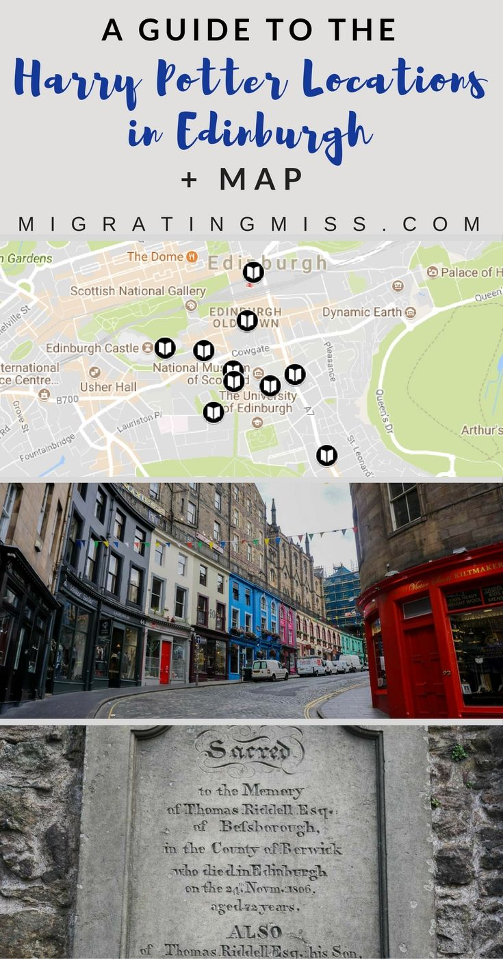 Harry Potter In Edinburgh The Top Locations Self Guided Tour Map Migrating Miss Harry Potter Locations Edinburgh Tours Harry Potter Tour