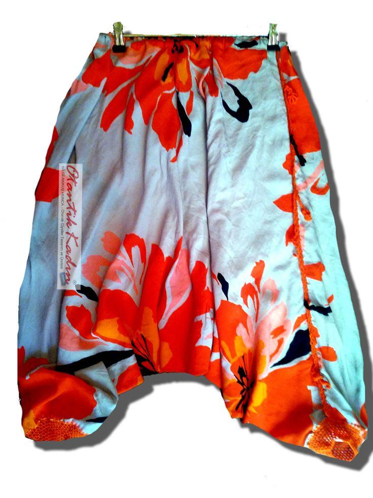 Çiçekli Viskon Bermuda Şalvar | Otantik Kadın, Otantik Giysiler, Elbiseler,Bohem giyim, Etnik Giysiler, Kıyafetler, Pançolar, kışlık Şalvarlar, Şalvarlar,Etekler, Çantalar,şapka,Takılar