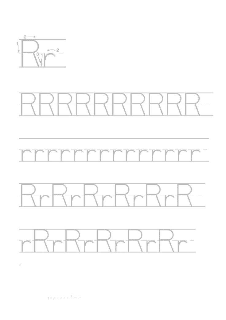 Actividades para niños preescolar, primaria e inicial. Imprimir fichas de caligrafia con el abecedario para niños de preescolar y primaria. Caligrafia Abecedario. 18