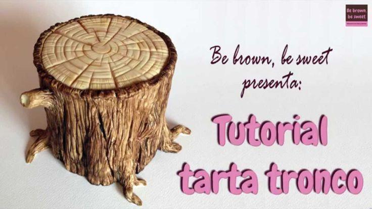 Paso a paso de cómo elaborar una tarta de fondant con forma de tronco de árbol, con raíces y ramas. Método sencillo, rápido y bastante realista. El dummie si...