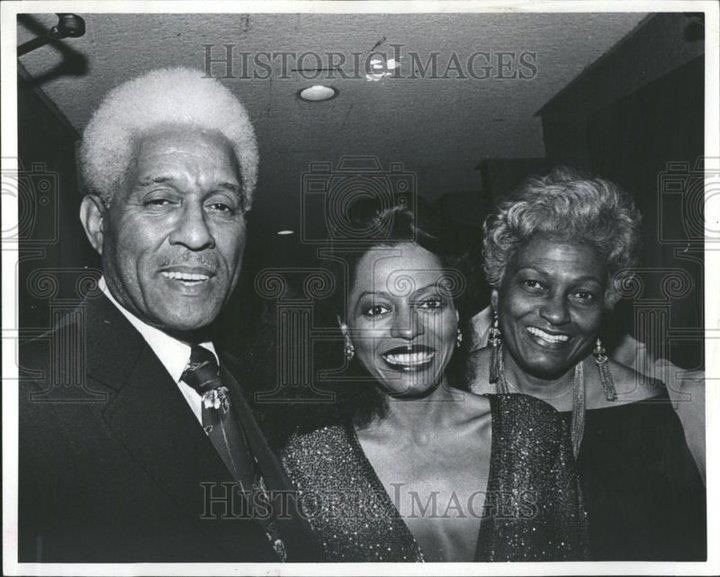 Diana Ross with her Father and Mother