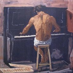 "Yannis Tsarouchis (1910-1989), ""The naked Pianist,"" 1971"