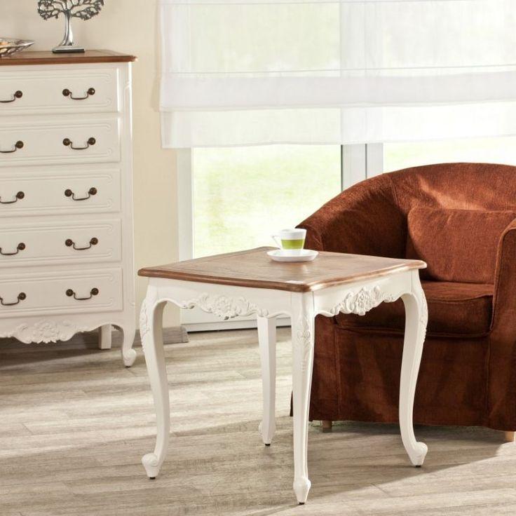 Elegant coffee table.  #dekoria #table #elegant #chabic #chic #white #natural #france #style #vintage#stol #retro #furniture #lamp #lapa #biale #meble #coffee #lamp #lampa