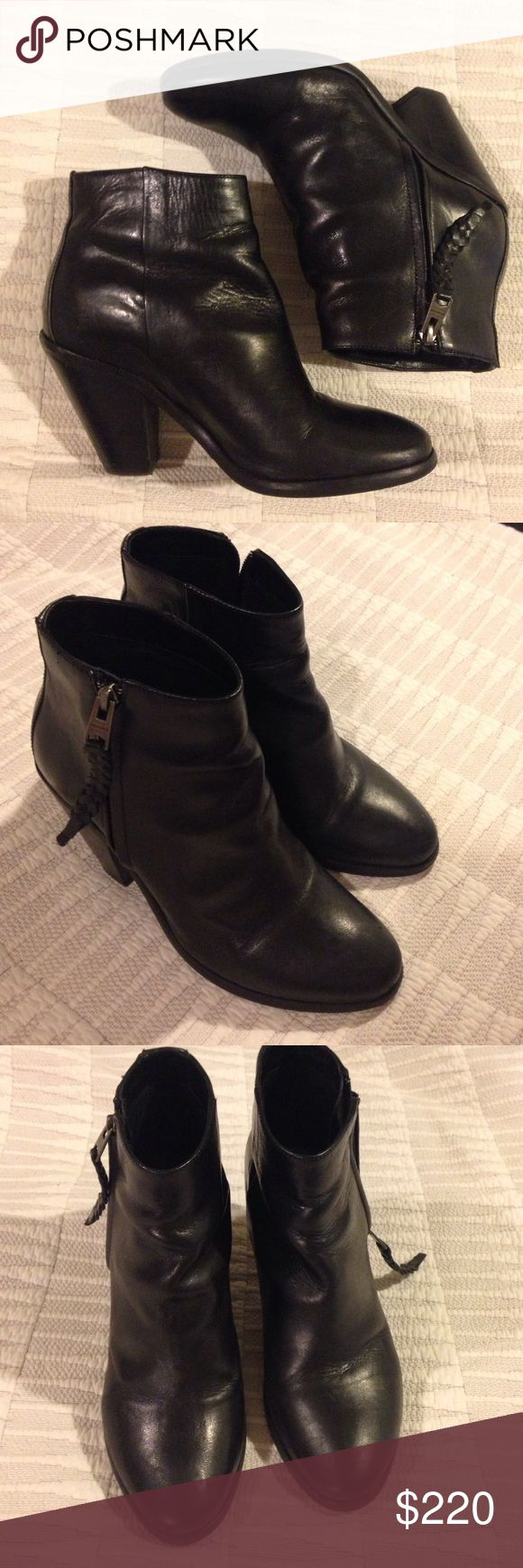 Allsaints boots Nice a broken in. Lucky you! Some minor wear but still look great! They are really cute but I have a bad knee and can't wear them. True to size. Make an offer or trade! All Saints Shoes Ankle Boots & Booties