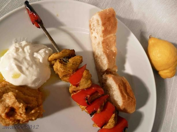 Persian Chicken Skewers from Food.com: A wonderfully flavorful grill ...