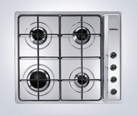 Apell by Smeg AP64S3 60cm Four Burner Gas Hob – Stainless Steel