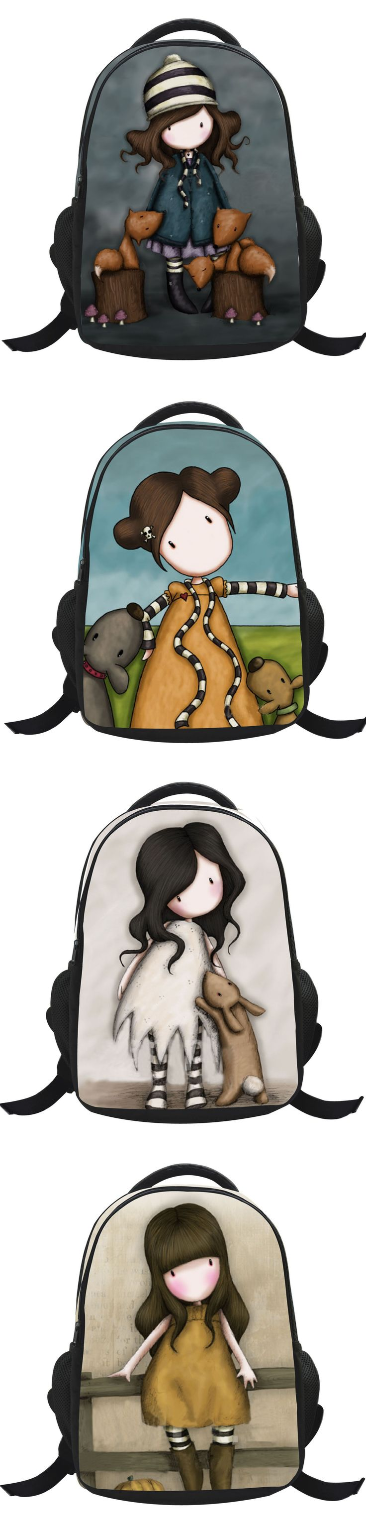 Animated cartoon kids school bags for girls,Shoulder bag randoseru-Cartoon girl