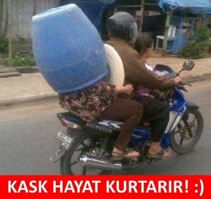 KASK HAYAT KURTARIR :) #mizah #matrak #espri #komik #şaka #gırgır #sözler #güzelsözler #komiksözler #caps