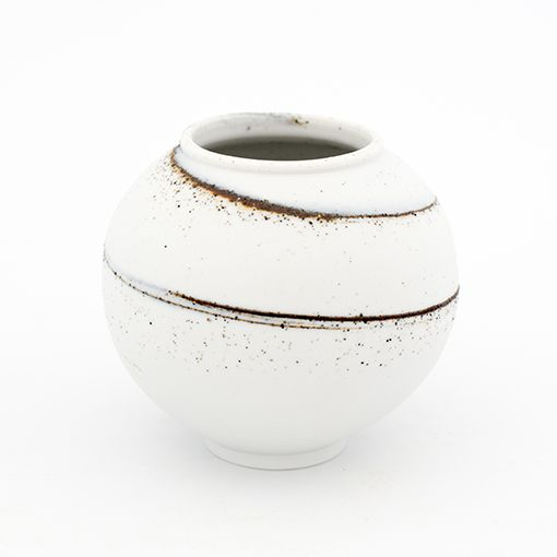 Adam Buick Miniature Moon Jar Porcelain with Waun Llodi clay Height 9cm