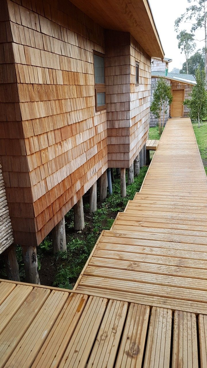 CUTEK clear oil protection to wood in Chiloe island Chile.