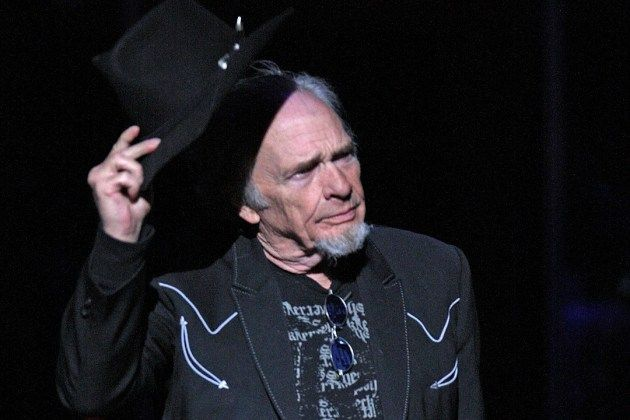 """Merle Haggard on Wednesday (April 6), the world lost a legend. Merle Haggard passed away ----but on February 10 in Santa Rosa, California may have been one of his last recorded performances---introducing """"Okie From Muskogee"""" with, """"We're gonna do a song about marijuana right now"""".   this video makes us remember why the world fell in love with him all the way back in 1963. and his youngest son, Ben, was standing behind him playing lead guitar, and his wife, Theresa, was singing backup."""