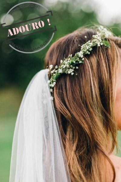 Coroa de flores para noivas que gostam do estilo romântico, no campo, rústico.