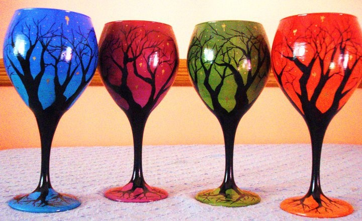 1000 Images About Painted Wine Glass Ideas On Pinterest