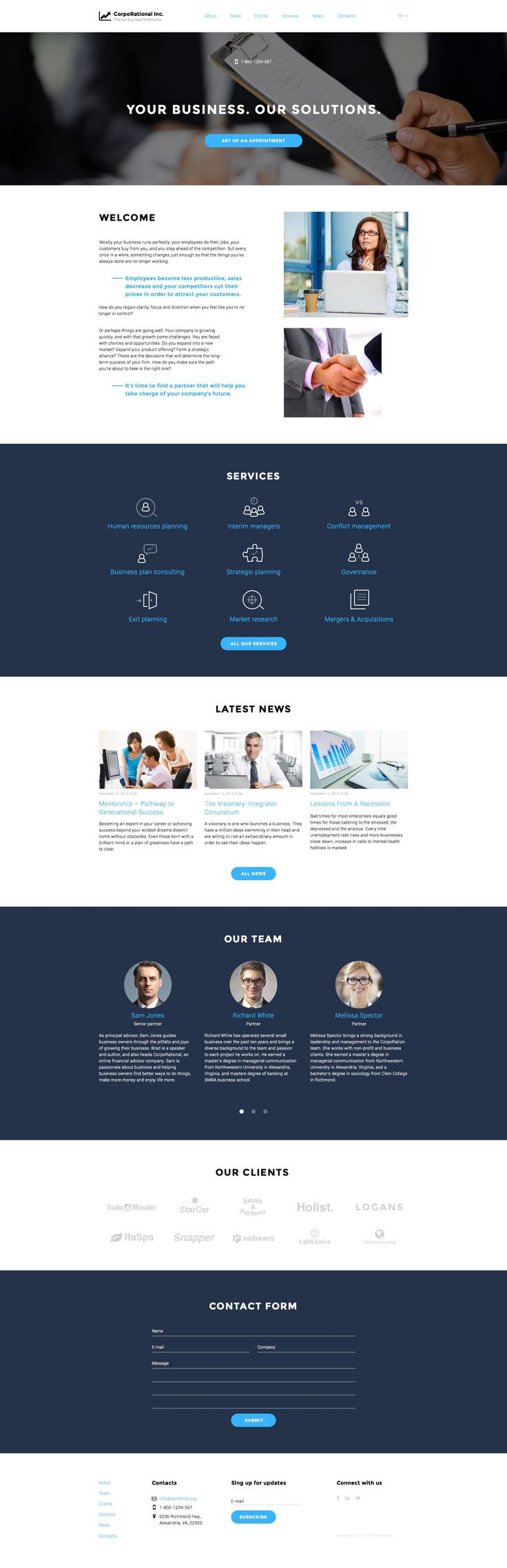 Coming soon Business Responsive Template Check Out