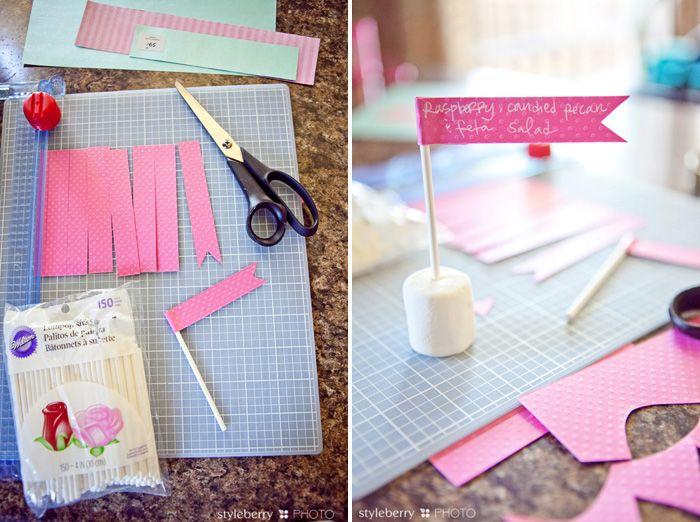 Super cute idea for dessert table signs