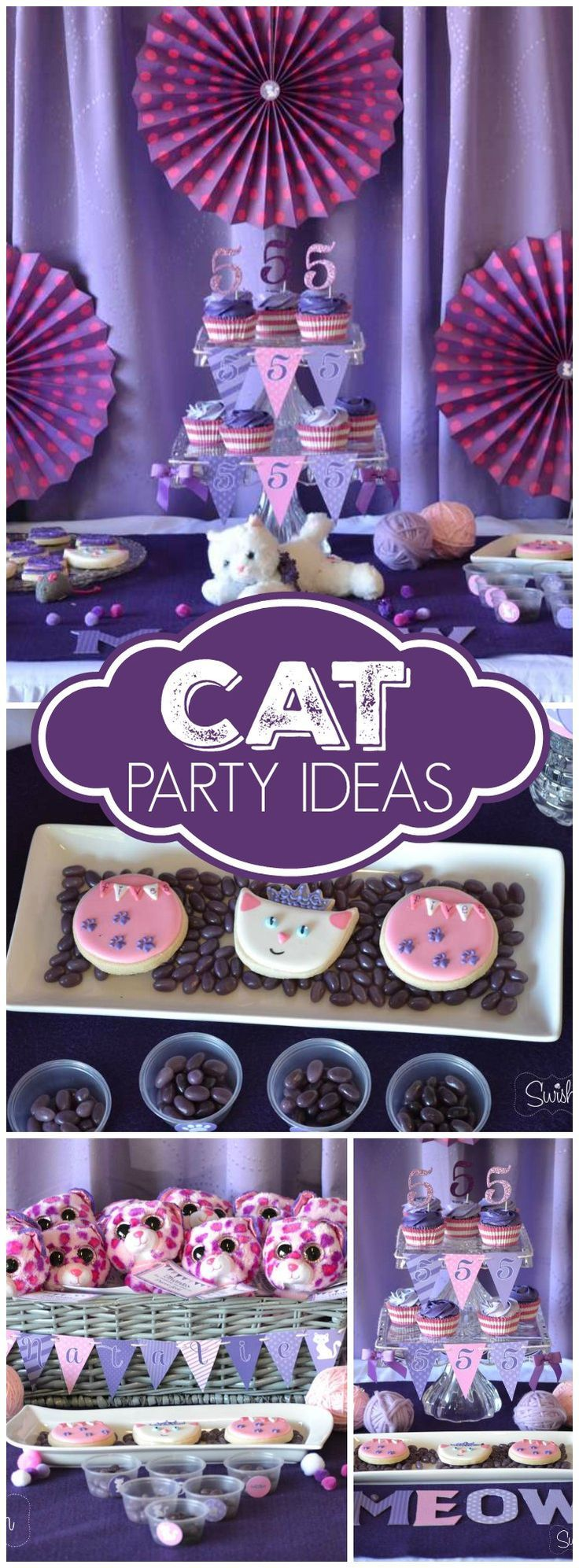 What a cute kitty princess party held at a local gymnastics center! See more party ideas at CatchMyParty.com!